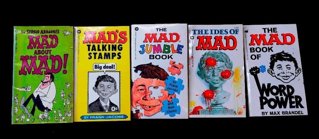 Lot of 5 Vintage Mad Magazine Paperback Books - Various