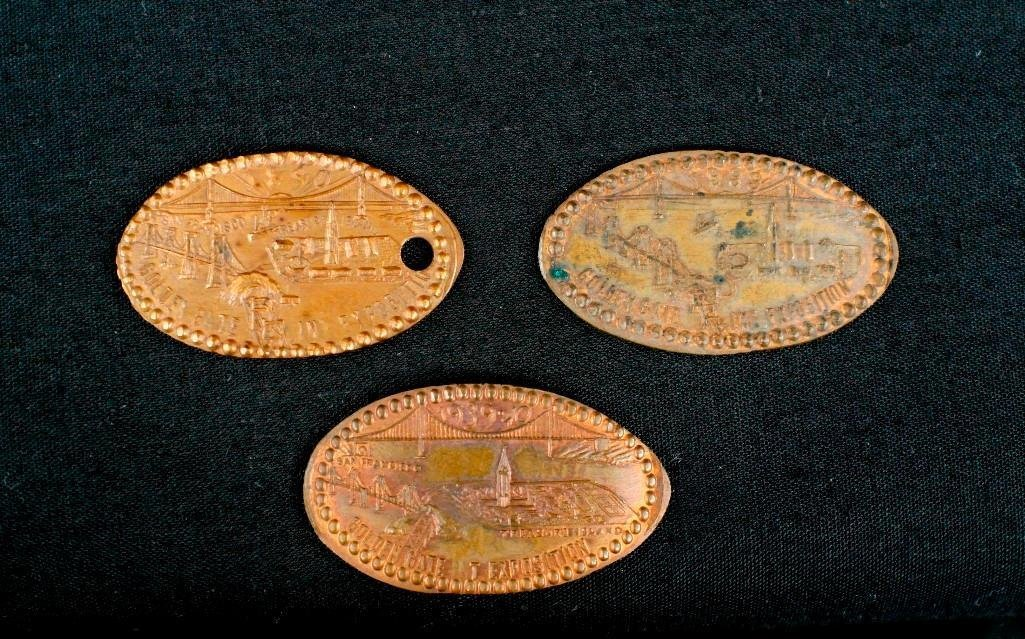 Lot of Three Golden Gate International Expo Coins -