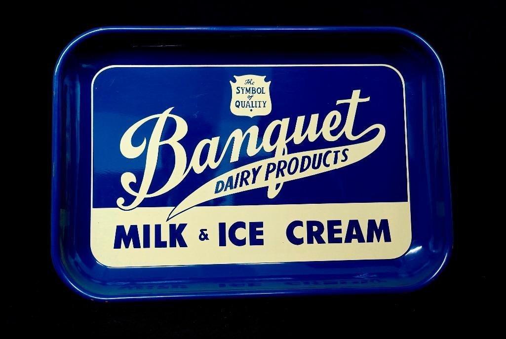Vintage Banquet Milk & Ice Cream Serving Tray