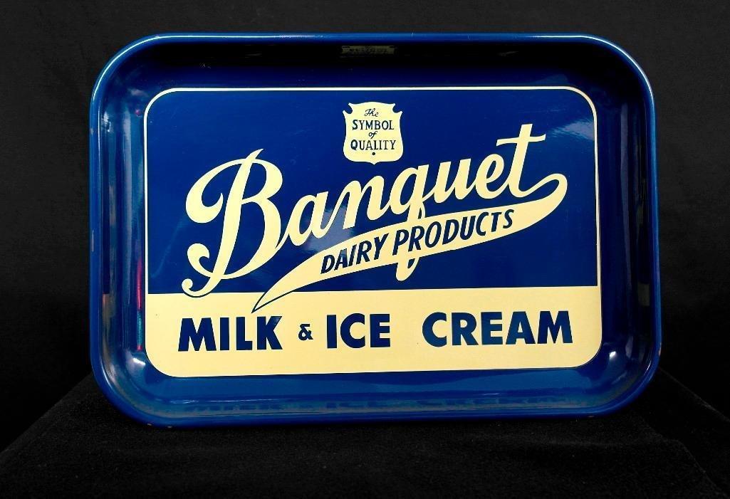 Vintage Banquet Milk & Ice Cream Serving Tray - 2