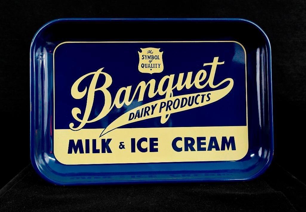 Vintage Banquet Milk & Ice Cream Serving Tray - 3