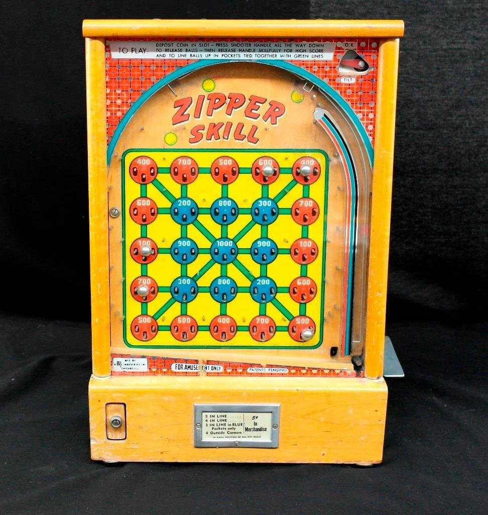 Zipper Skill Trade Stimulator Gumball Machine