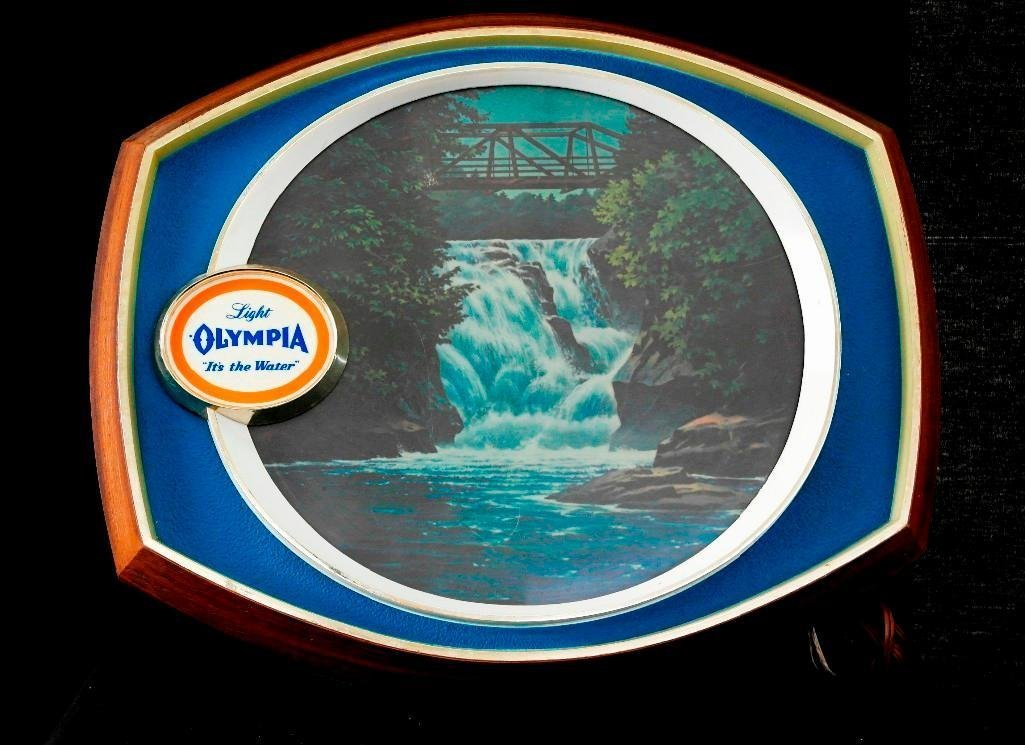 Olympia Beer - Lighted Motion Waterfall Sign