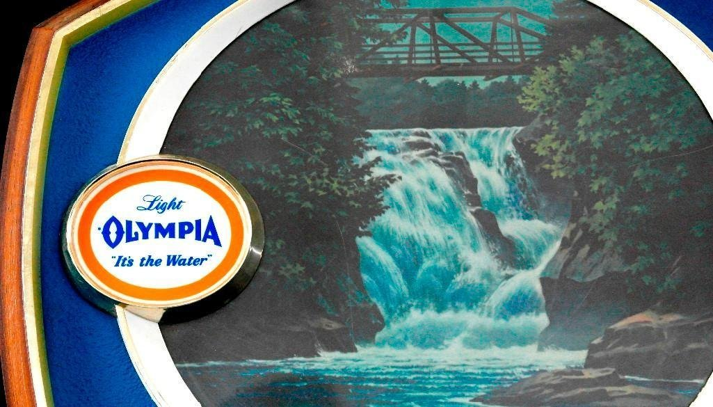 Olympia Beer - Lighted Motion Waterfall Sign - 2