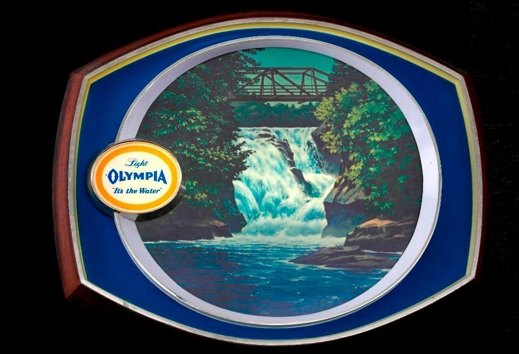 Olympia Beer - Lighted Motion Waterfall Sign - 3