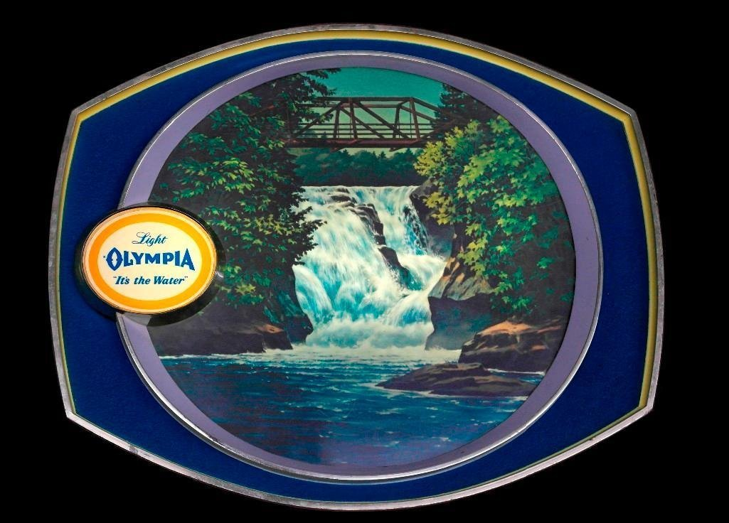 Olympia Beer - Lighted Motion Waterfall Sign - 4