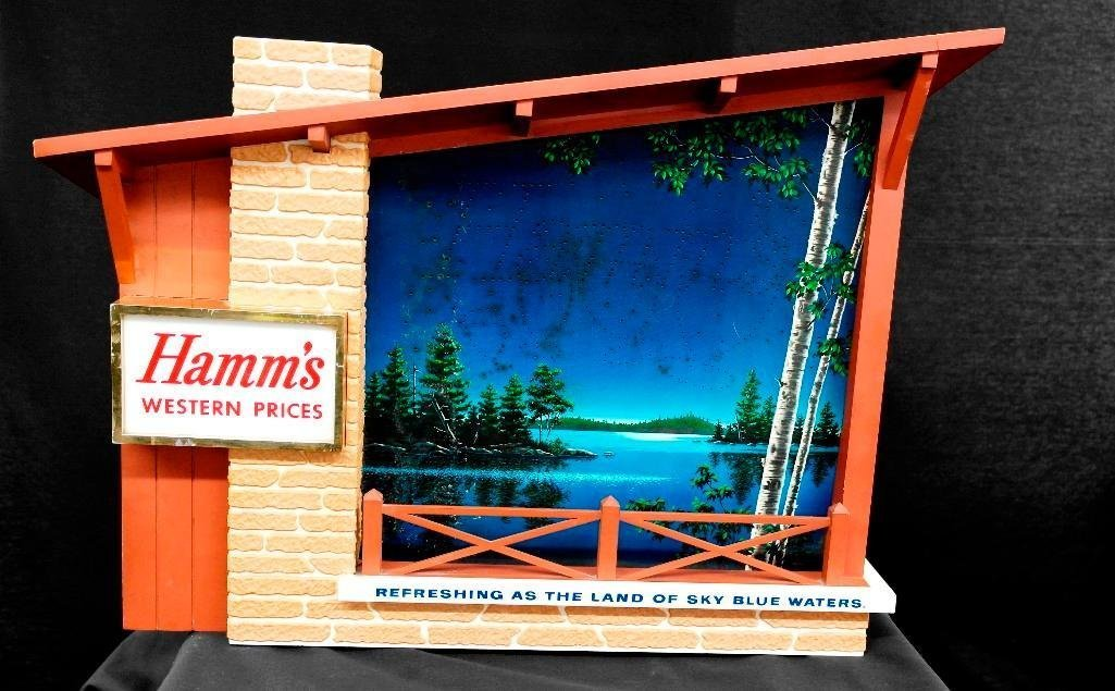 Hamm S Beer Motion Sign Starry Night