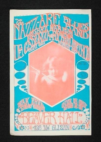 3 Beaver Hall Concert Handbills - Portland, Oregon - - 2