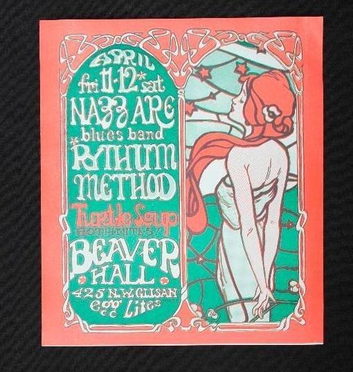3 Beaver Hall Concert Handbills - Portland, Oregon - - 3