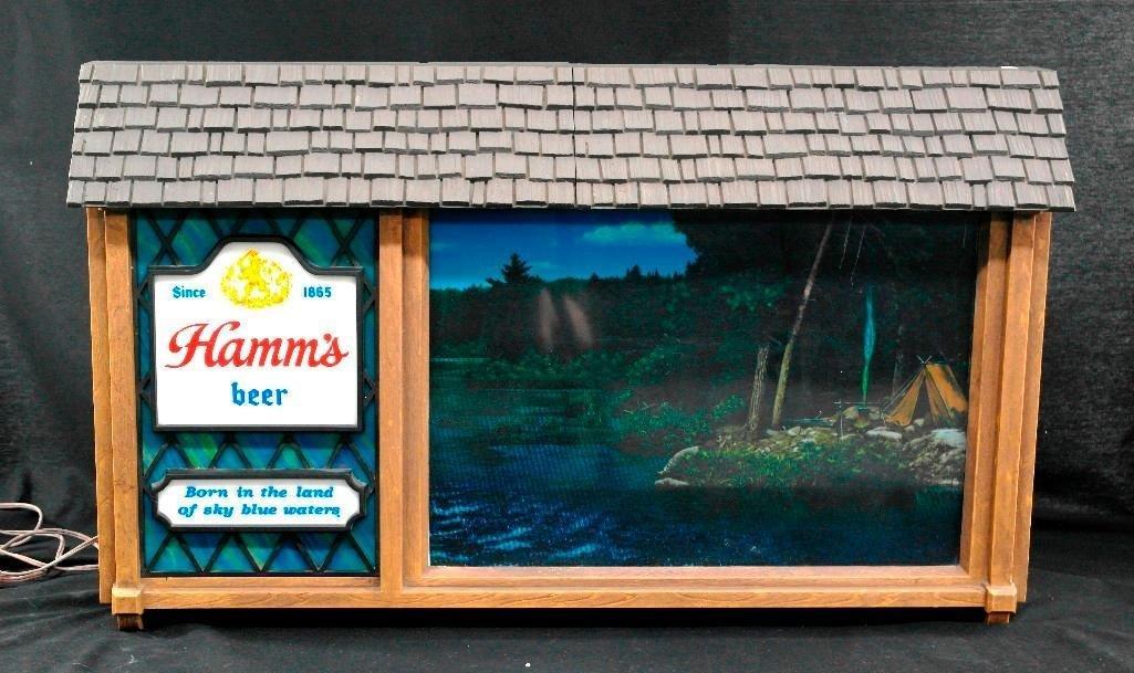 Hamm's Beer Scenarama Motion Sign