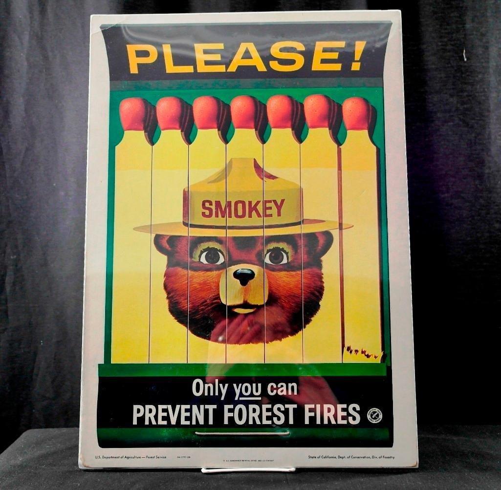 Smokey Bear 1963 Sign
