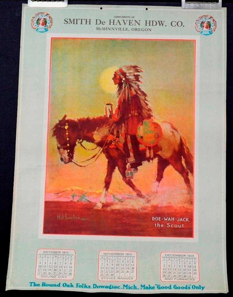Round Oak Stove 1915 Calendar Page