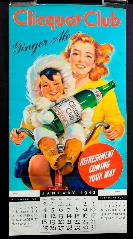 1942 Clicquot Club Soda Calendar - Northern Exposure