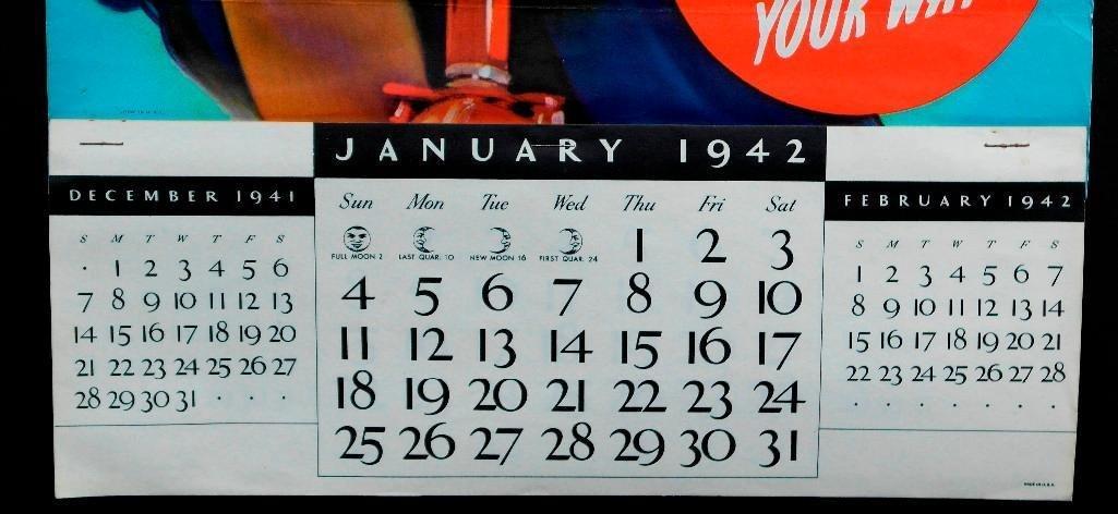 1942 Clicquot Club Soda Calendar - Northern Exposure - 3