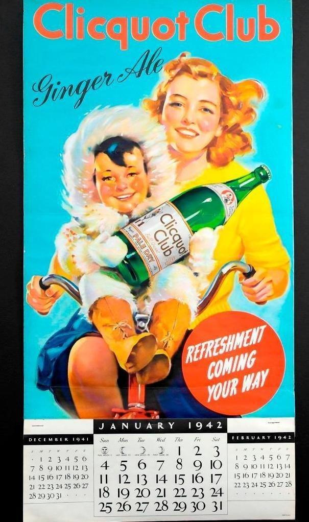1942 Clicquot Club Soda Calendar - Northern Exposure - 4