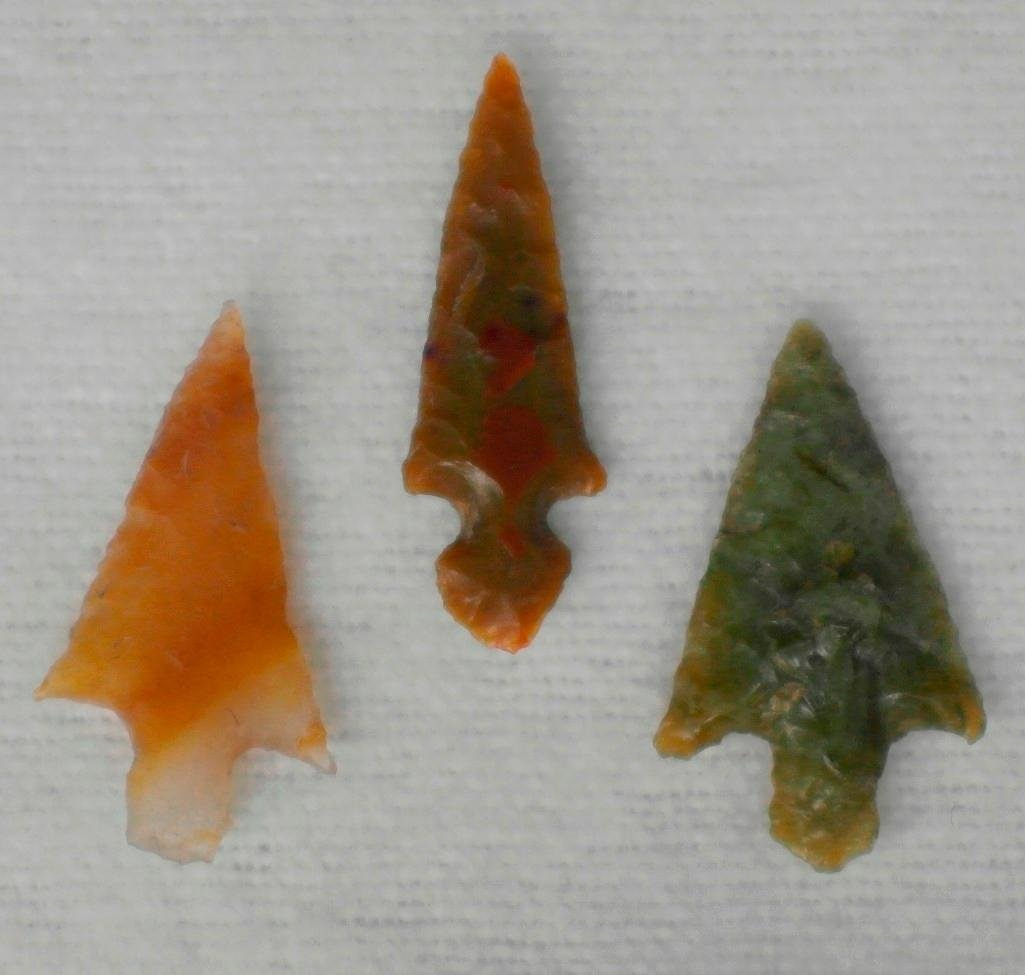 Klickitat Dagger and 2 other Arrowheads - Columbia