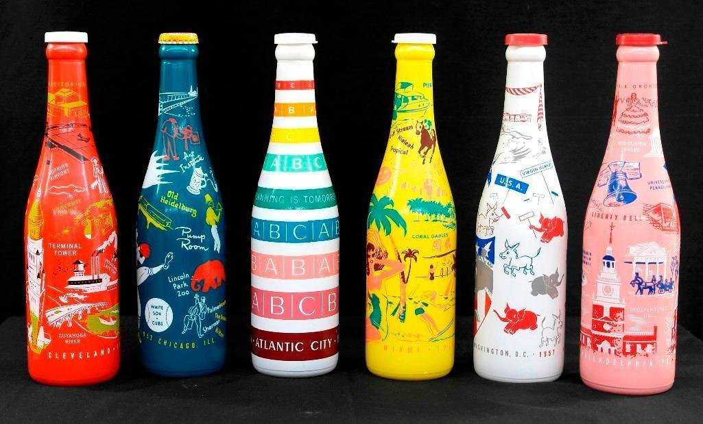 ABCB Convention Soda Bottles 1953 through 1958