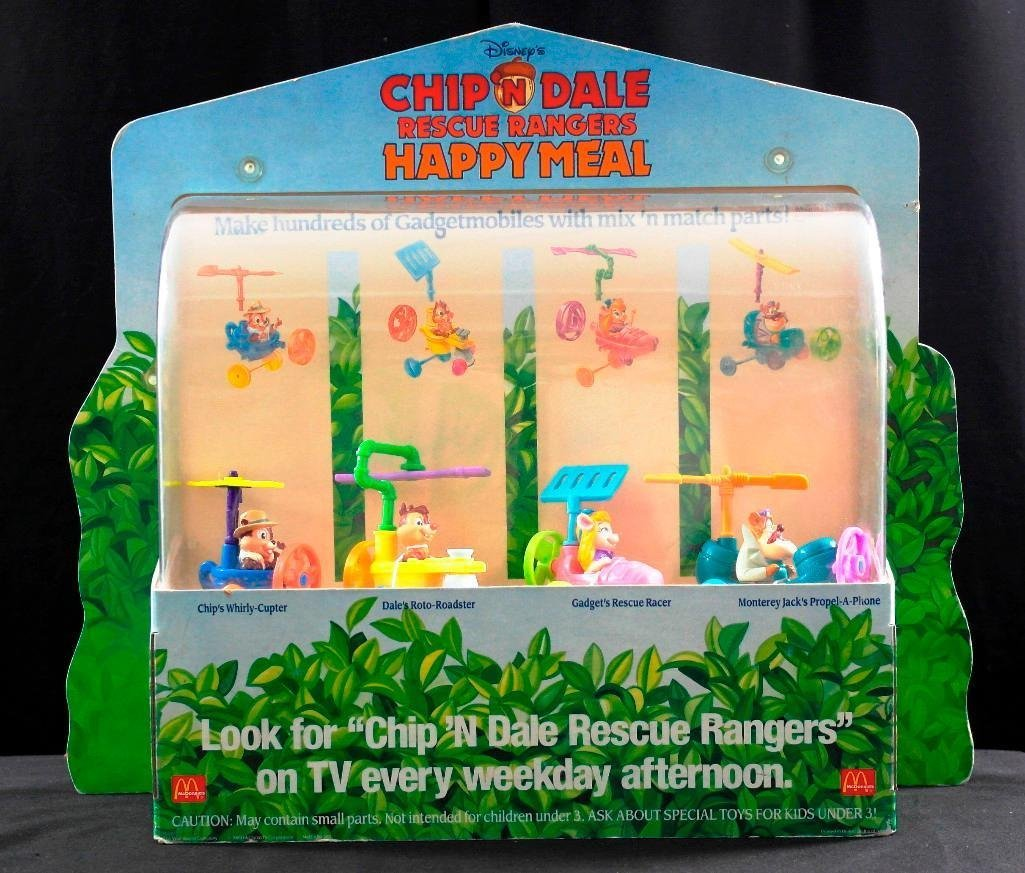 McDonald's Chip 'N Dale Happy Meal Toys Display