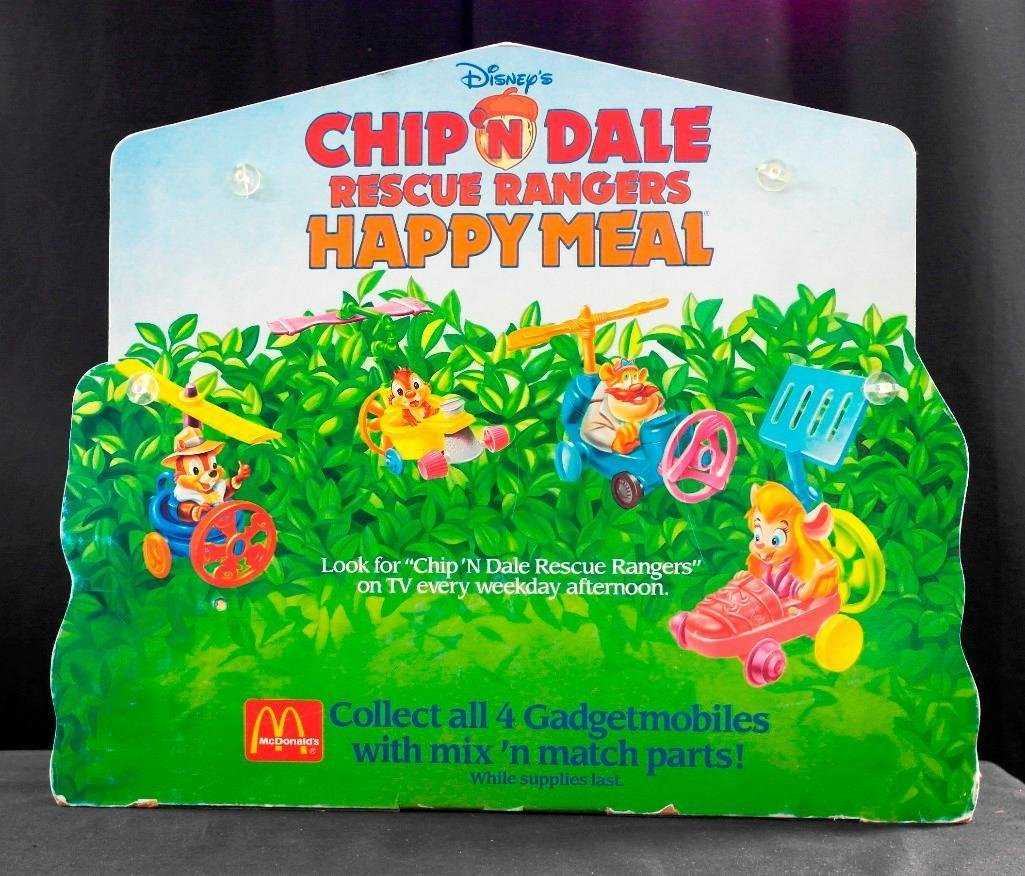 McDonald's Chip 'N Dale Happy Meal Toys Display - 3