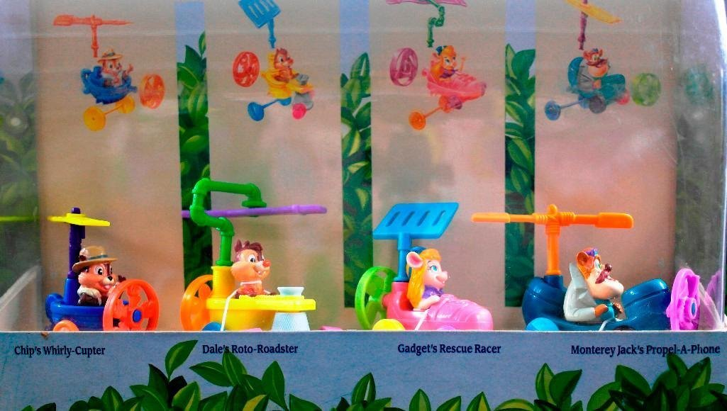 McDonald's Chip 'N Dale Happy Meal Toys Display - 5