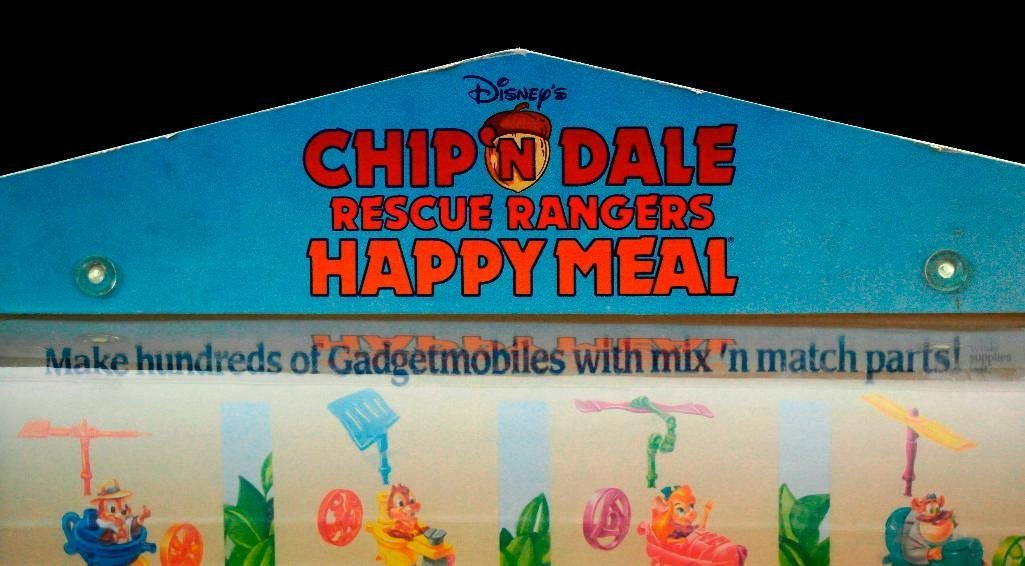 McDonald's Chip 'N Dale Happy Meal Toys Display - 7