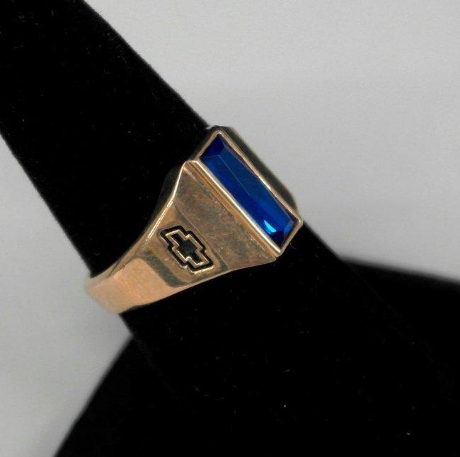 Chevrolet/GM Sales Achievement 10K Gold Ring : Lot 342