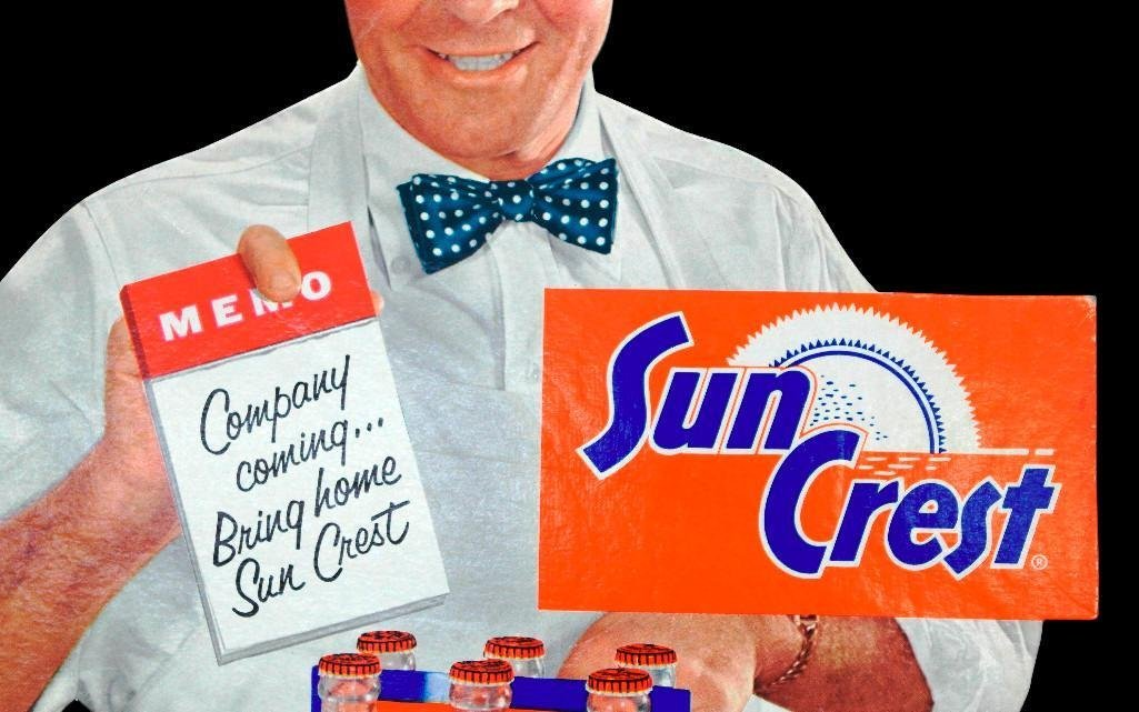 Sun Crest Orange Soda Die-Cut Sign - 4