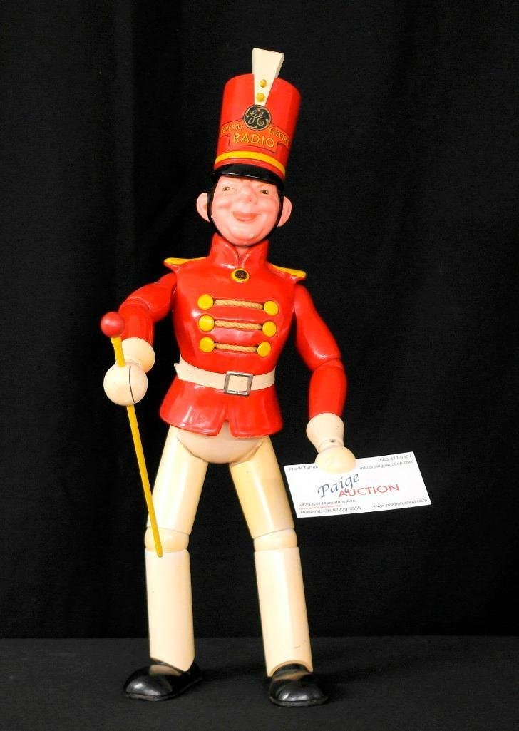 General Electric Wooden Advertising Doll
