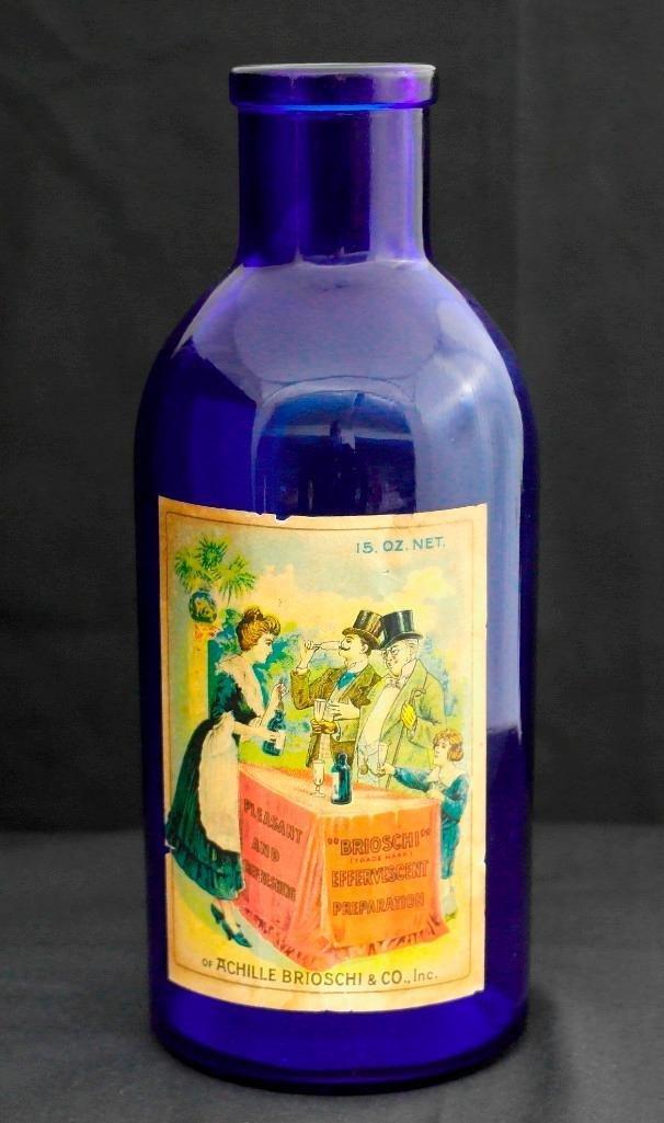 Brioschi Effervescent Preparation Cobalt Blue Jar