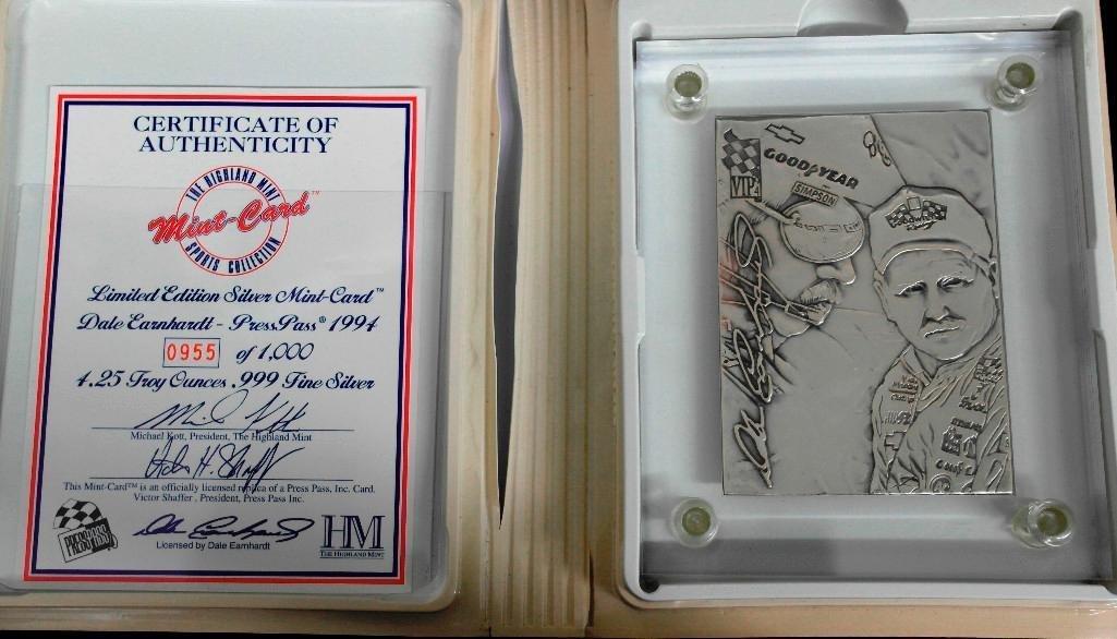 Dale Earnhardt Highland Mint .999 Silver Card - 4