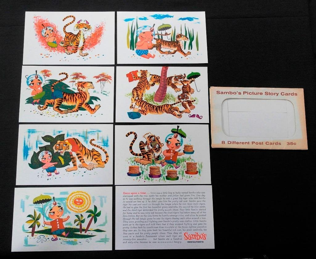 Complete Set of 8 Sambo's Restaurant Postcards and