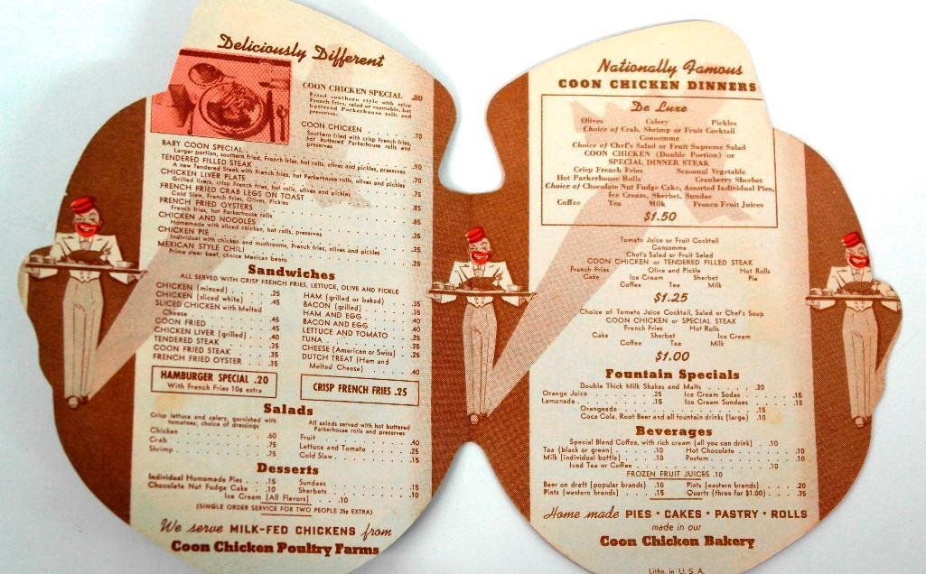 Coon Chicken Inn Small Menu - 2