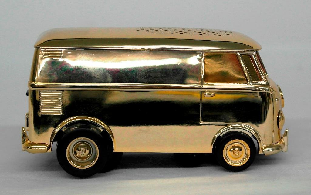 Gold VW Bus Soundwagon Record Player - 4