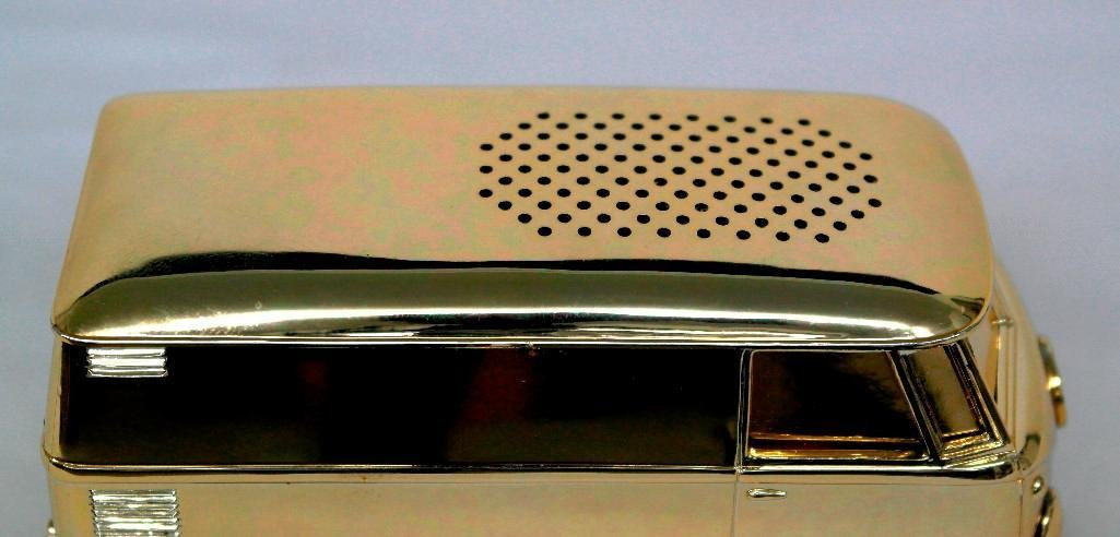 Gold VW Bus Soundwagon Record Player - 6