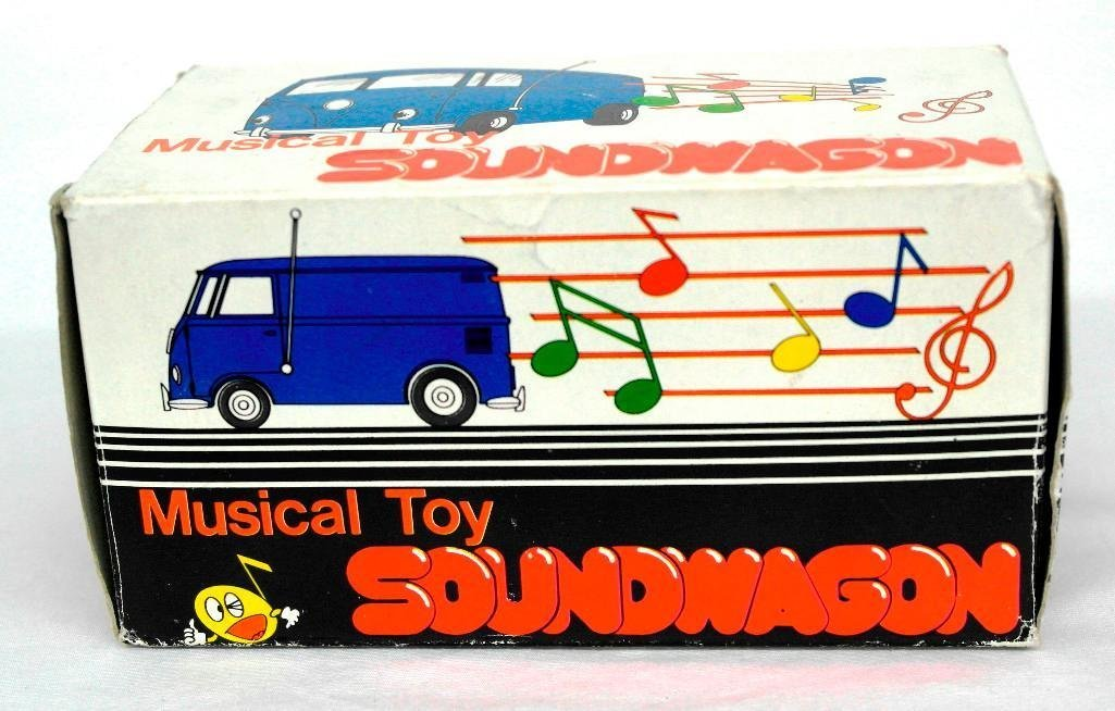 Gold VW Bus Soundwagon Record Player - 7