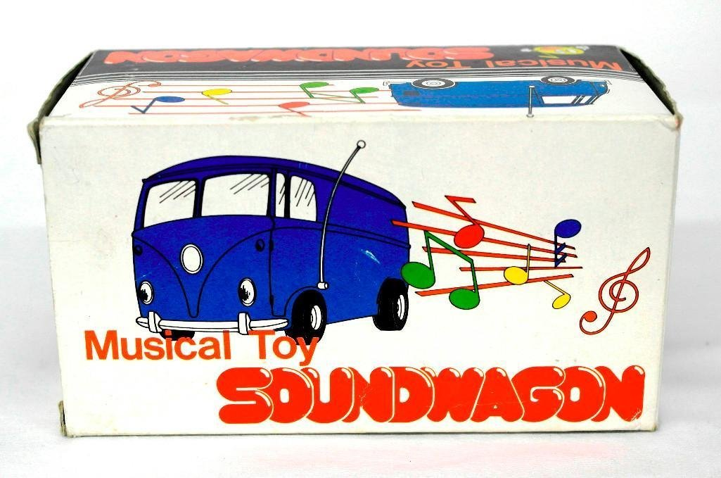Gold VW Bus Soundwagon Record Player - 8