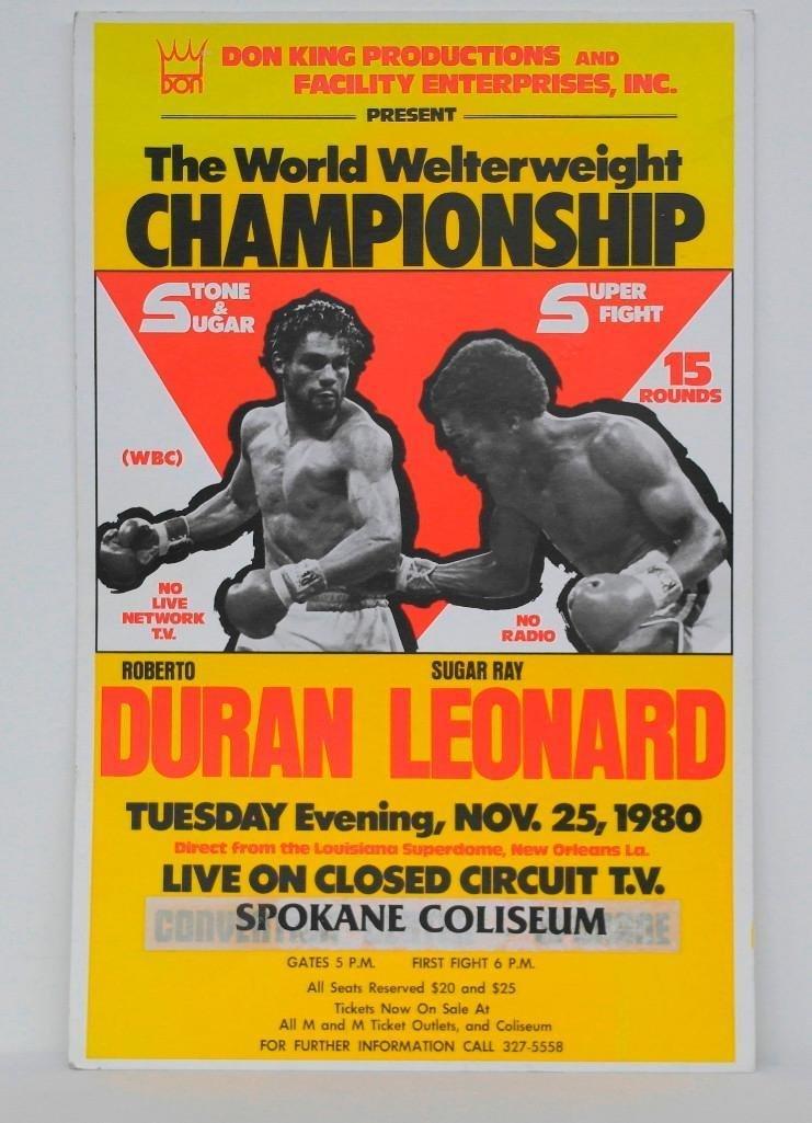 """Duran vs. Leonard """"No Mas"""" Boxing Poster"""