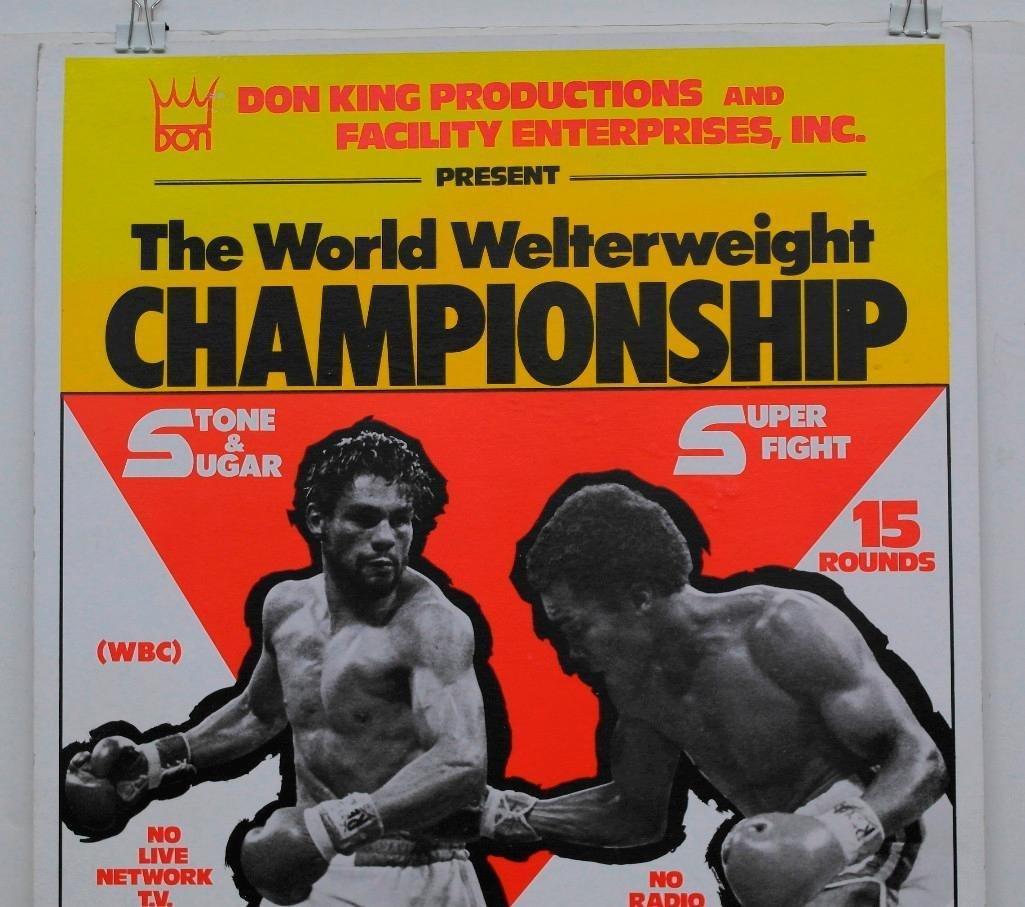 """Duran vs. Leonard """"No Mas"""" Boxing Poster - 2"""