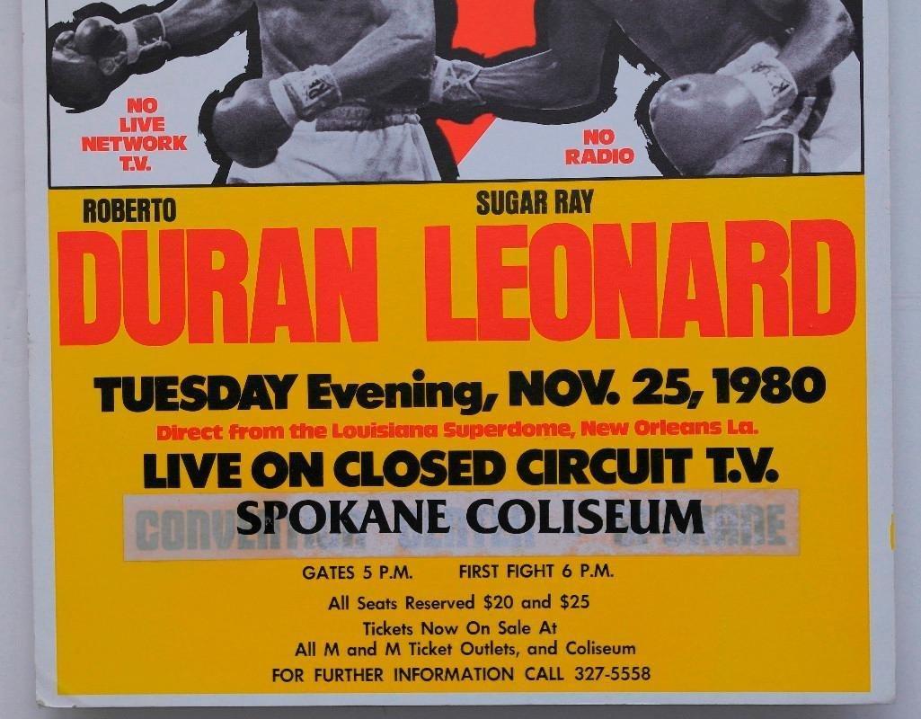 """Duran vs. Leonard """"No Mas"""" Boxing Poster - 3"""