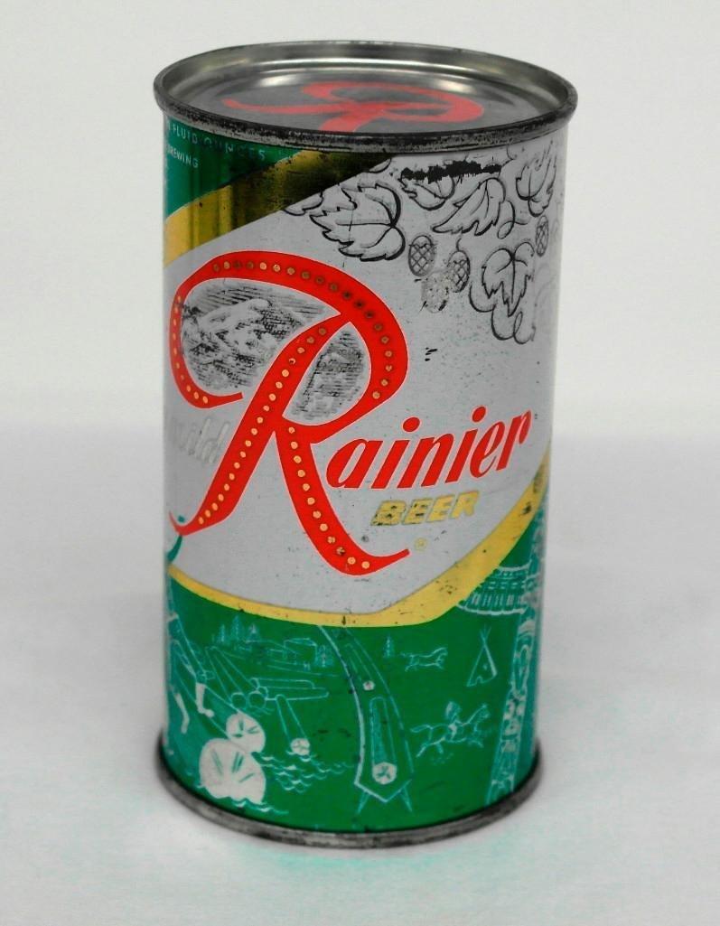 """Rainier Jubilee """"Paul Bunyan"""" Flat Top Beer Can"""
