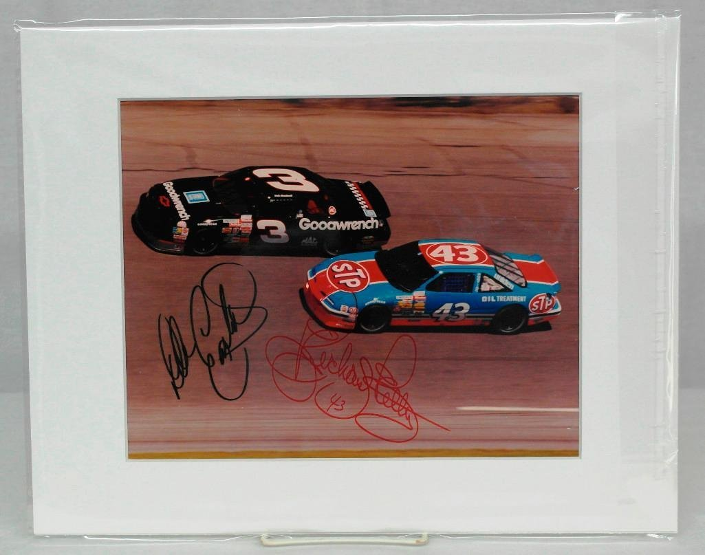 Color Photo Signed By NASCAR Superstars Dale Earnhardt