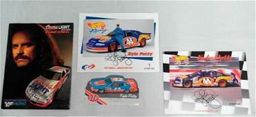 NASCAR Driver Kyle Petty Set of Four Autographed