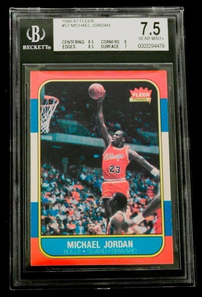 Michael Jordan 1986 Fleer Rookie Card BGS 7.5
