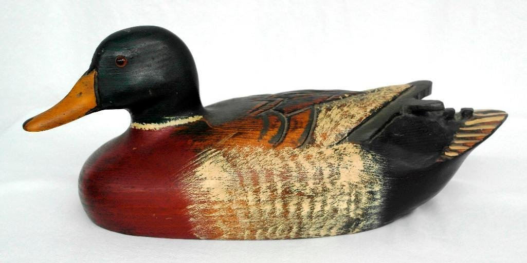 Beautiful Hand-Carved Duck Decoy Signed By Leo Koppy