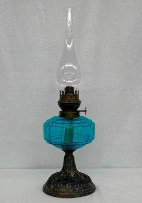 """Vintage 12"""" Oil Lamp With Reform Brenner Hardware"""
