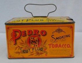Vintage Pedro Tobacco Lunch Box Tin
