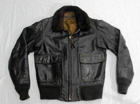 Vintage Military Leather Bomber/flight Jacket
