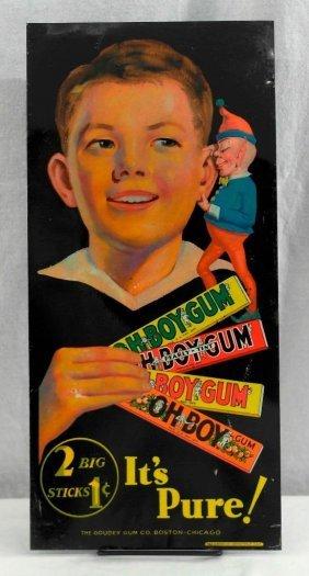 Classic Tin Oh Boy Gum Sign