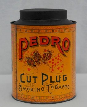 Vintage Pedro Tobacco Round Tin - Very Scarce