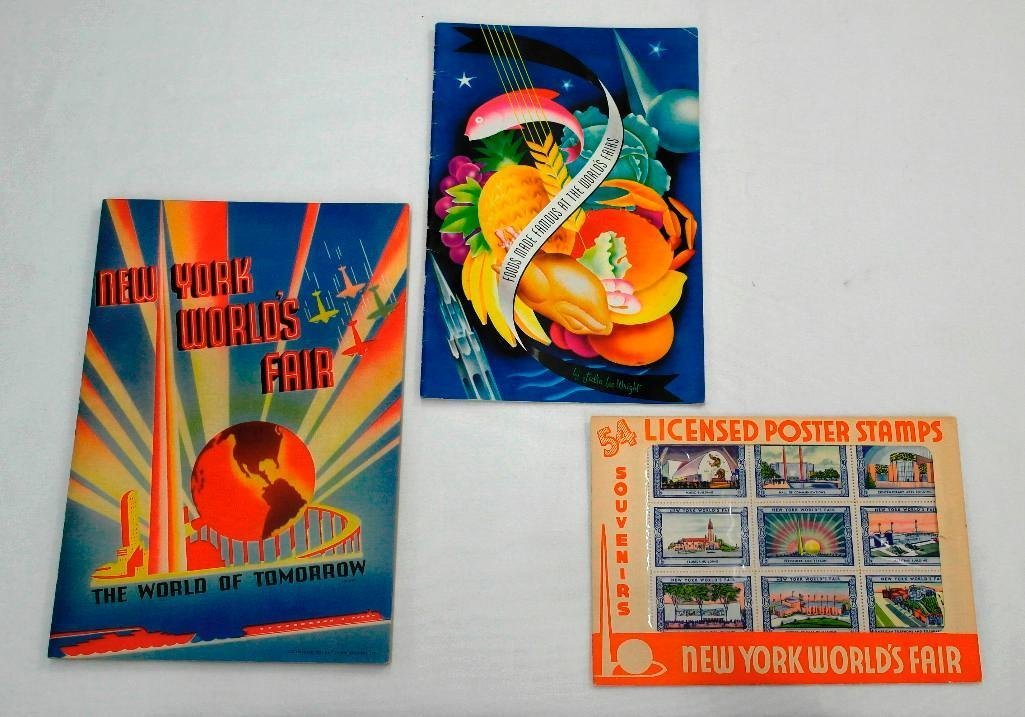NY World's Fair Poster Stamps, Photo Book, Food Booklet